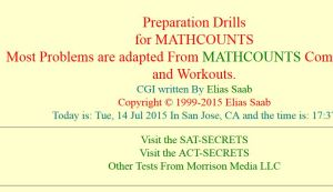 mathcounts drills